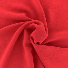 ♥ Coupon tissu 10 cm X 145 cm ♥ crêpe gaufré Linda - rouge