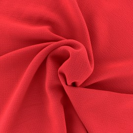 Embossed Crepe Fabric Linda - red x 10cm