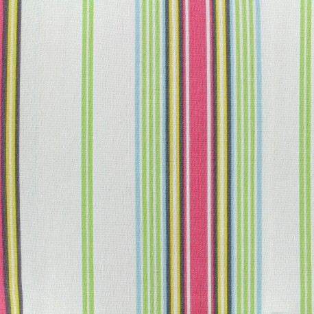 Bachette Cotton Fabric Josas - ivory/pink x 10cm