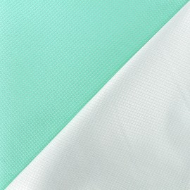 Reversible jacquard fabric Goldy - seagreen x 10cm