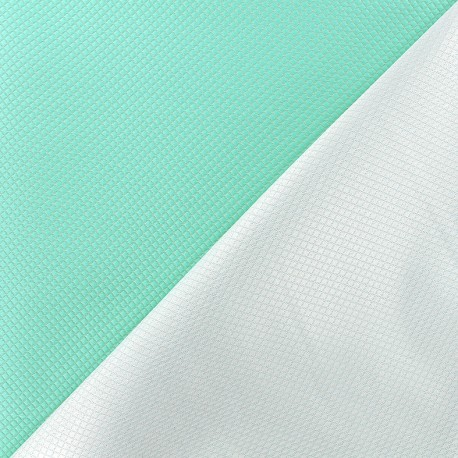 Reversible jacquard fabric Goldy - seagreen x 10cm