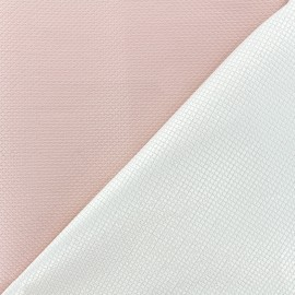 Reversible jacquard fabric Goldy - pink x 10cm
