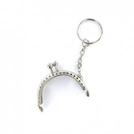 Metallic Clasp for purse Bianca 47 mm - silver