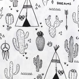 To color cotton fabric - Cactus x 30cm