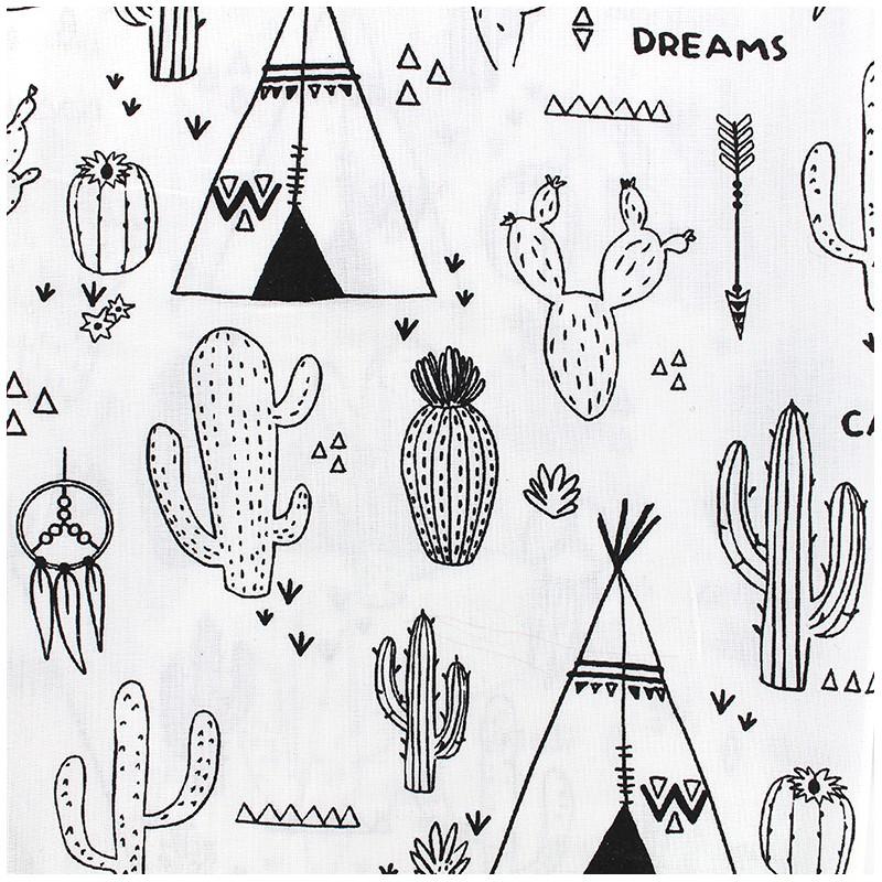 Tissu coton a colorier cactus - Cactus coloriage ...