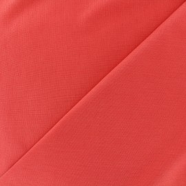 Heavy plain Milano jersey fabric - coral x 10cm