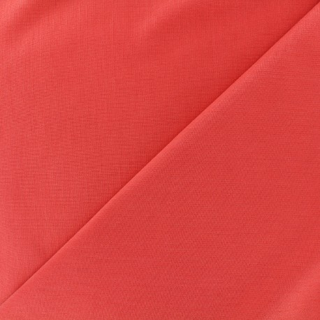 Tissu Jersey Milano lourd uni - corail x 10cm