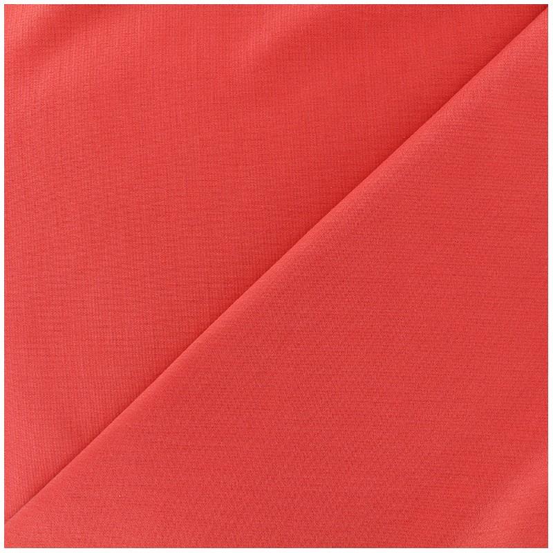 tissu jersey milano lourd uni corail x 10cm ma petite mercerie. Black Bedroom Furniture Sets. Home Design Ideas
