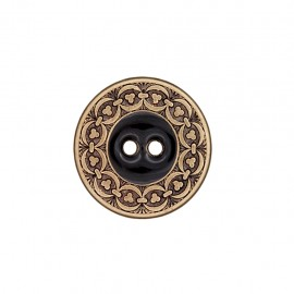 Metal button Richelieu - black