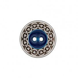 Bouton metal Richelieu - bleu nuit