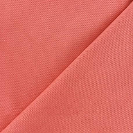 Tissu coton sergé - pêche x 10cm