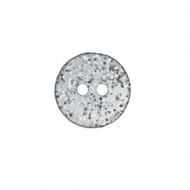 Bouton polyester Merveille acidulée - gris
