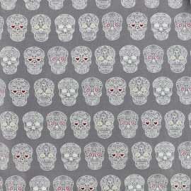 Cotton fabric Sweet rebellion - grey x 10cm