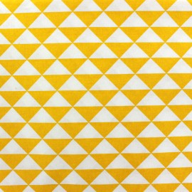 Coated cotton fabric Vintage - yellow x 10cm
