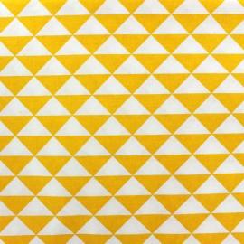 Tissu enduit coton Vintage - jaune x 10cm