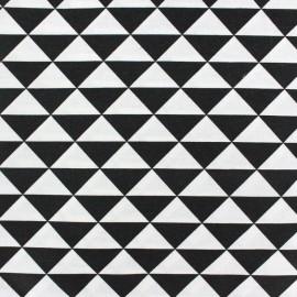 Tissu enduit coton Vintage - noir x 10cm