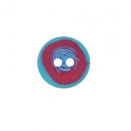Bouton polyester Bubble gum - fuchsia/bleu