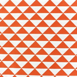 Coated cotton fabric Vintage - orange x 10cm