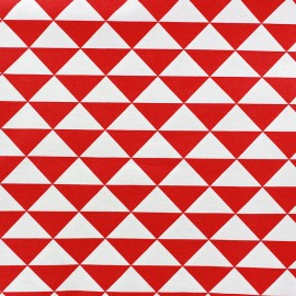 Coated cotton fabric Vintage - red x 10cm