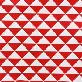 Tissu enduit coton Vintage - rouge x 10cm