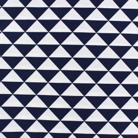 Coated cotton fabric Vintage - navy x 10cm