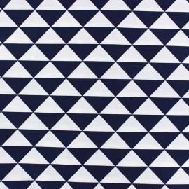 Tissu enduit coton Vintage - bleu nuit x 10cm