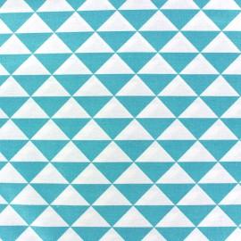 Tissu enduit coton Vintage - turquoise x 10cm