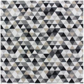 Coated cotton fabric Trimix - black/grey x 10cm