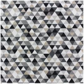 Tissu enduit coton Trimix - noir/gris x 10cm