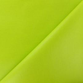 Tissu enduit coton uni - anis x 10cm