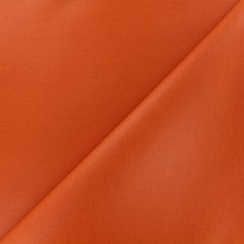 Plain coated cotton fabric - orange x 10cm