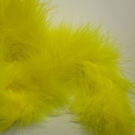 Marabou or feathers-band - yellow