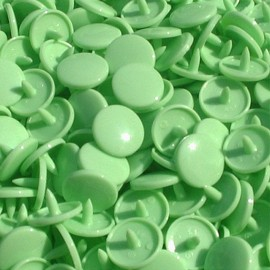 1 pack of 10 snap buttons round-shaped KAM resin - pistachio
