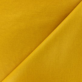 Plain coated cotton fabric - yellow x 10cm