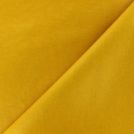 Tissu enduit coton uni - jaune x 10cm
