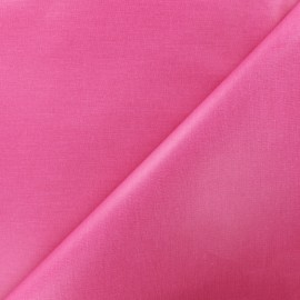 Plain coated cotton fabric - pink x 10cm
