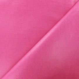 Tissu enduit coton uni - rose x 10cm