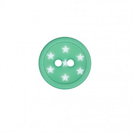Bouton polyester Ciel étoilé - vert