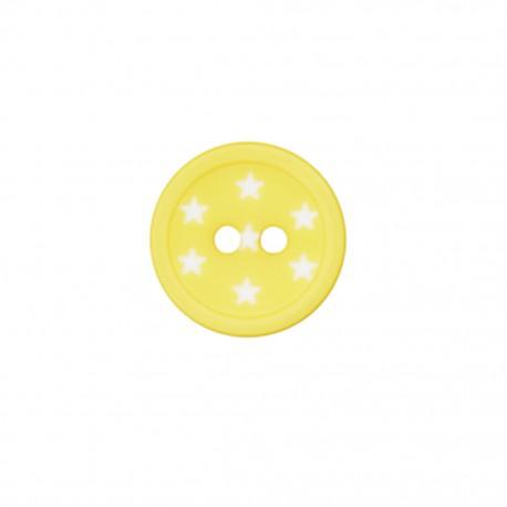 Bouton polyester Ciel étoilé - jaune