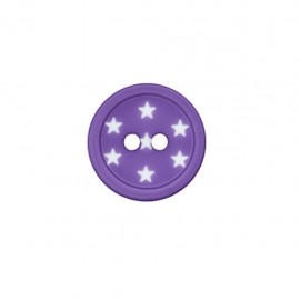 Bouton polyester Ciel étoilé - violet
