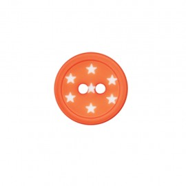 Bouton polyester Ciel étoilé - orange