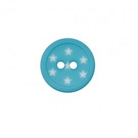 Bouton polyester Ciel étoilé - bleu