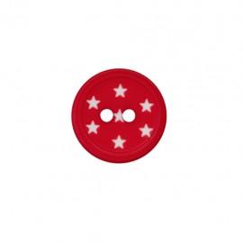 Bouton polyester Ciel étoilé - rouge