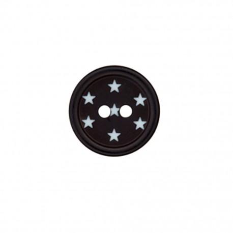 Bouton polyester Ciel étoilé - noir