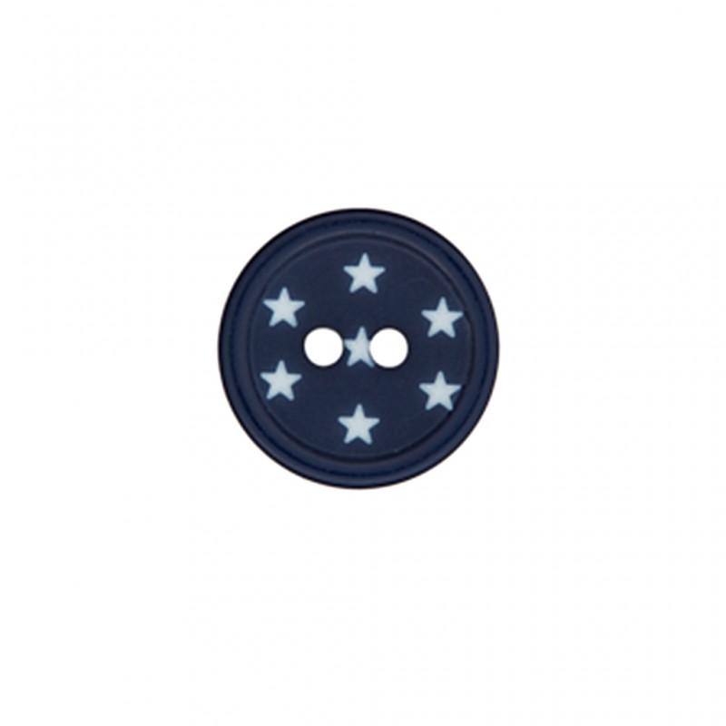 Polyester button ciel toil midnight blue ma petite mercerie - Image ciel etoile ...