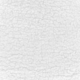 Fourrure Sherpa - blanc x 10cm