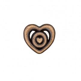 Bouton métal Coeur forgé - bronze