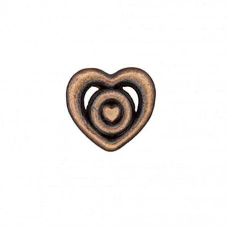 Metal button Coeur forgé - bronze