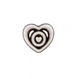 Bouton métal Coeur forgé - argent