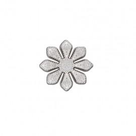 Bouton métal Marguerite royale - argent
